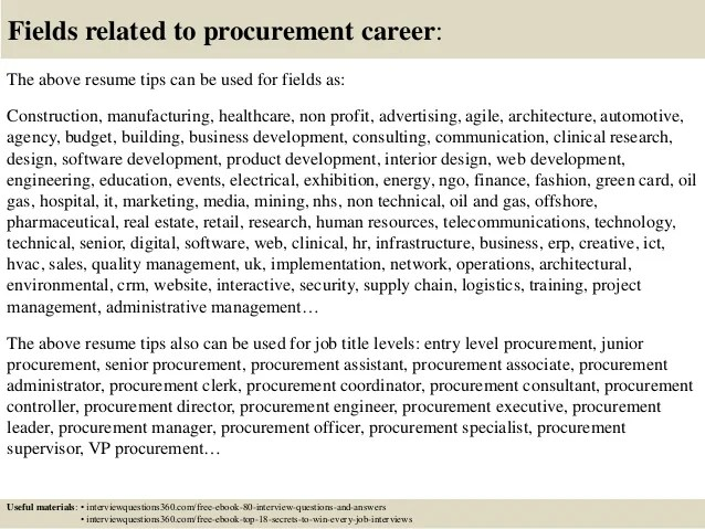 procurement career objective - Onwebioinnovate - purchasing specialist sample resume