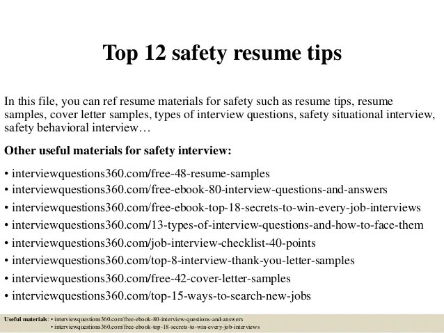 Resume Tips And Examples] Six Easy Tips Create Winning