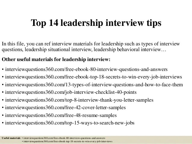 how to answer interview questions about leadership - Acurlunamedia