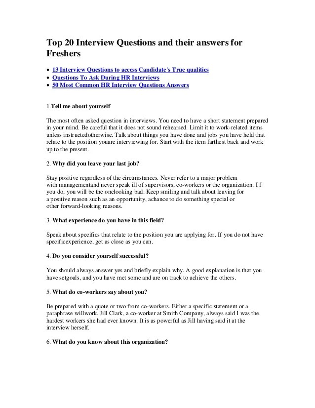 HR QUESTIONS ANSWERS INTERVIEW EBOOK More Pdf