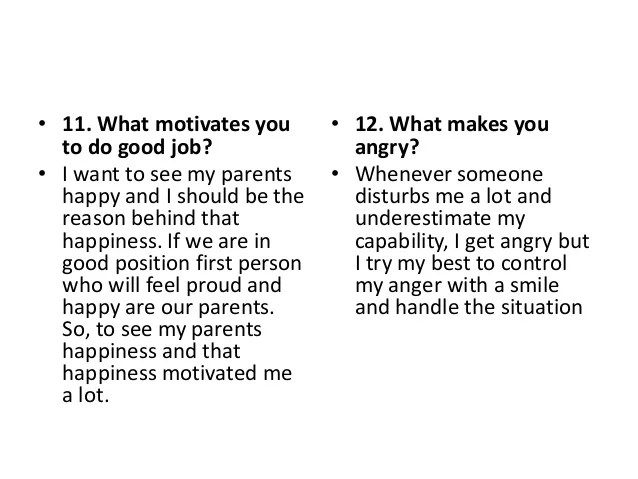 interview question what motivates you to do a good job - Onwe