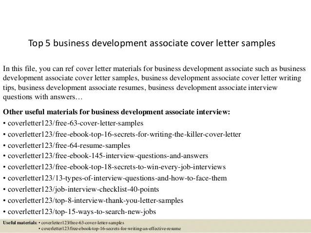 sample business development cover letter