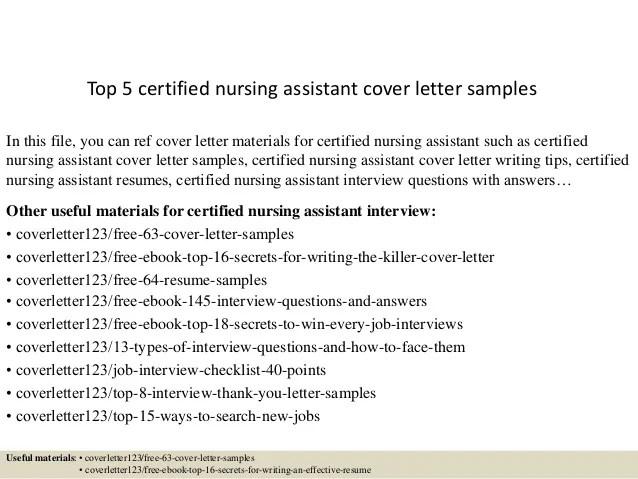 nursing assistant cover letter sample - Josemulinohouse