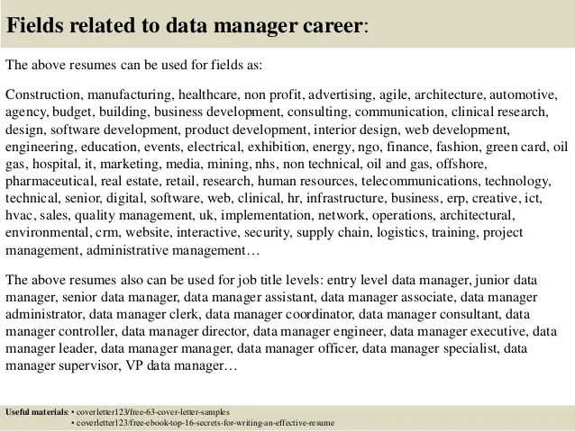 Wonderful Clinical Data Specialist Sample Resume