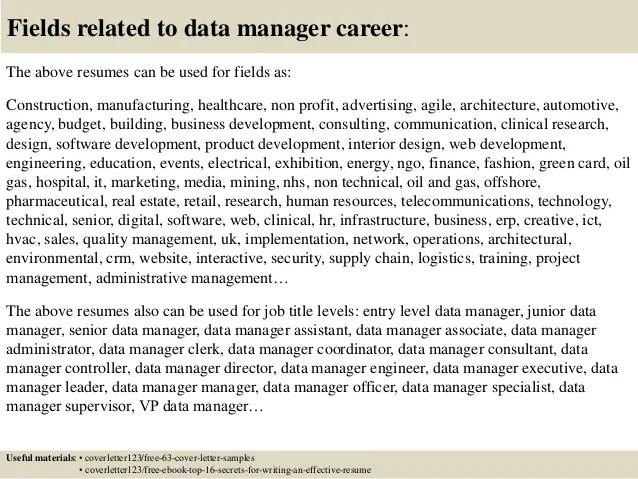 Clinical Data Specialist Sample Resume cvfreepro
