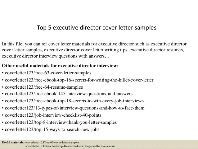 executive cover letter sample director - Minimfagency - executive cover letter