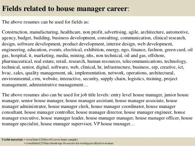 cover letter for housing officer - Thevillas - Housing Administrator Sample Resume