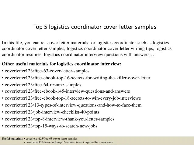 Update On The Bird Phobia Letter And The Employee Who Won Top 5 Logistics Coordinator Cover Letter Samples