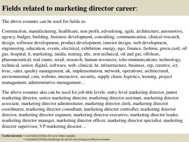 director of marketing cover letters - Josemulinohouse