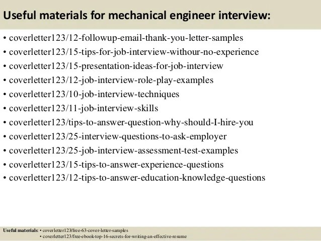 mechanical engineering intern cover letter - Alannoscrapleftbehind