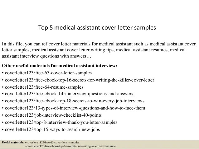sample resume medical assistant recommendation letter medical cover letters for medical assistants sample resume medical assistant recommendation - Cover Letter Sample For Medical Assistant
