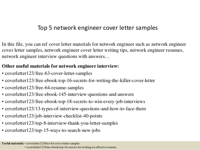 network engineer cover letter examples - Acurlunamedia