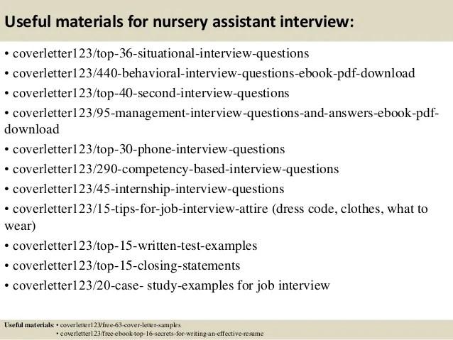 cv for nursery assistant - Alannoscrapleftbehind