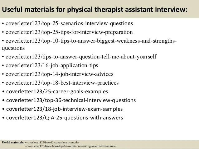 resume cover letter for physical therapist assistant