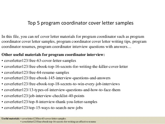 program coordinator resumes - Boatjeremyeaton - Program Coordinator Resume