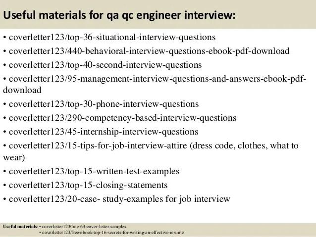 qc resume sample