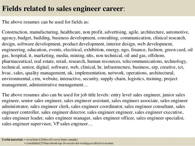 technical sales engineer resumes