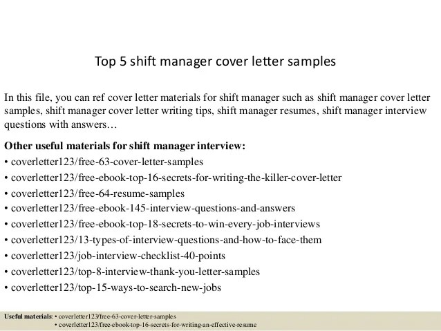 shift supervisor cover letter - Acurlunamedia - cover letter examples uf