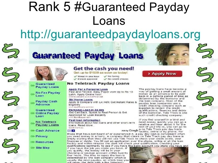 Top 5 Sites Of No Teletrack Payday Loans