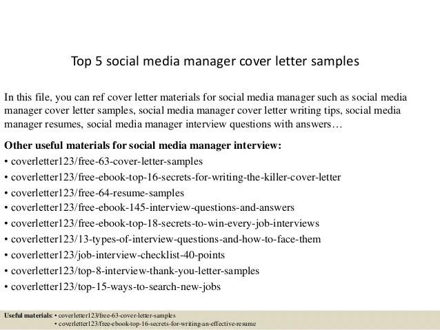 cover letter for social media manager - Minimfagency - resume social media