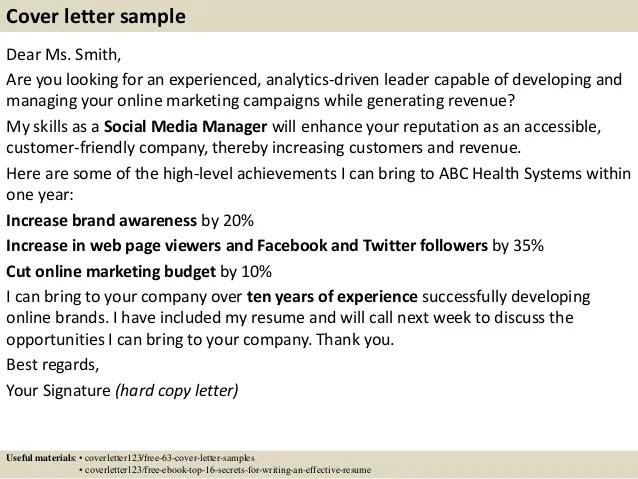 Social Media Recruiter Resume   Cover Letter And Resume ...