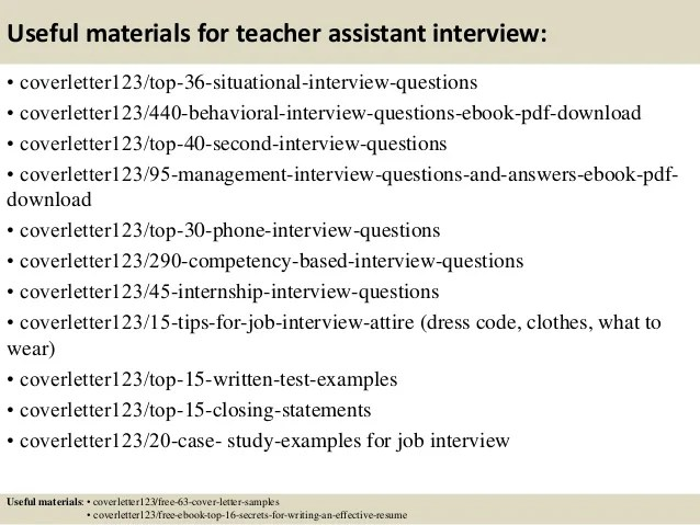sample teaching assistant cover letter - Goalgoodwinmetals