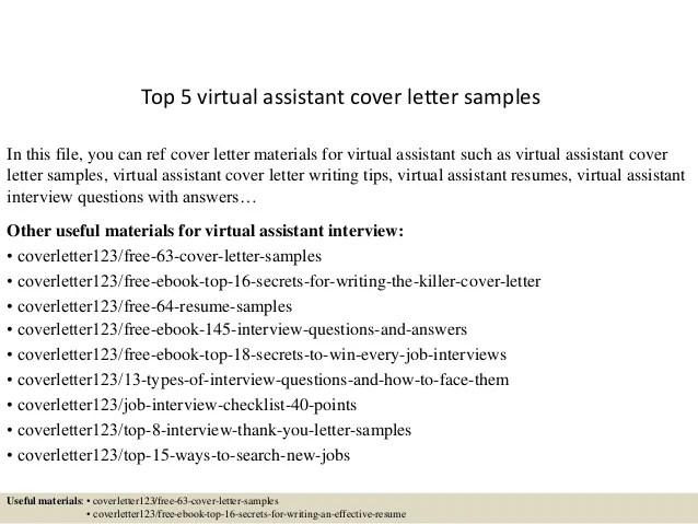Order Essay Online Speedypaper Top 5 Virtual Assistant Cover Letter Samples
