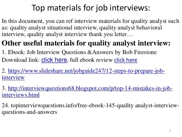 interview quality analyst questions answers - Quality Analyst Interview Questions And Answers