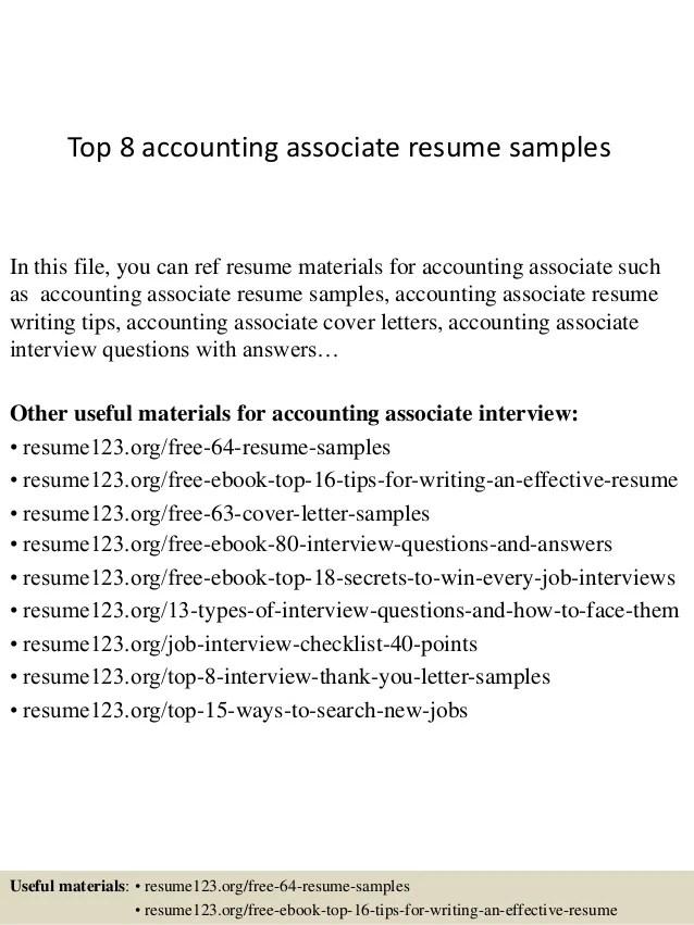 accounting associate resumes - Onwebioinnovate