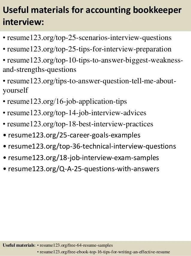 bookkeeper resume - Josemulinohouse