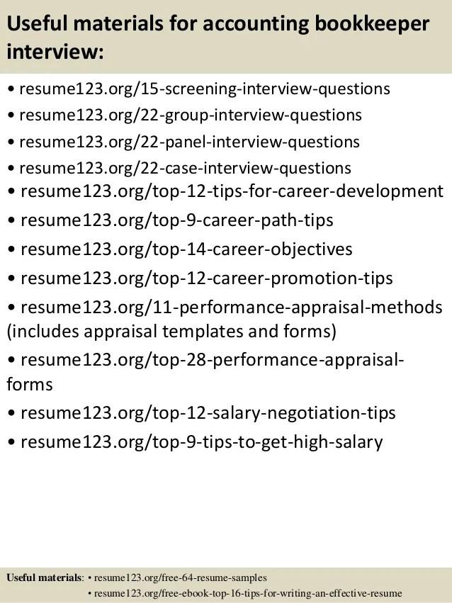 bookkeeper resume sample - Minimfagency