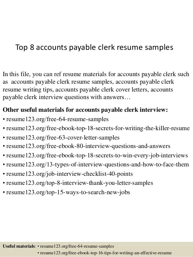 cover letter for accounts payable clerk - Intoanysearch - probate clerk sample resume