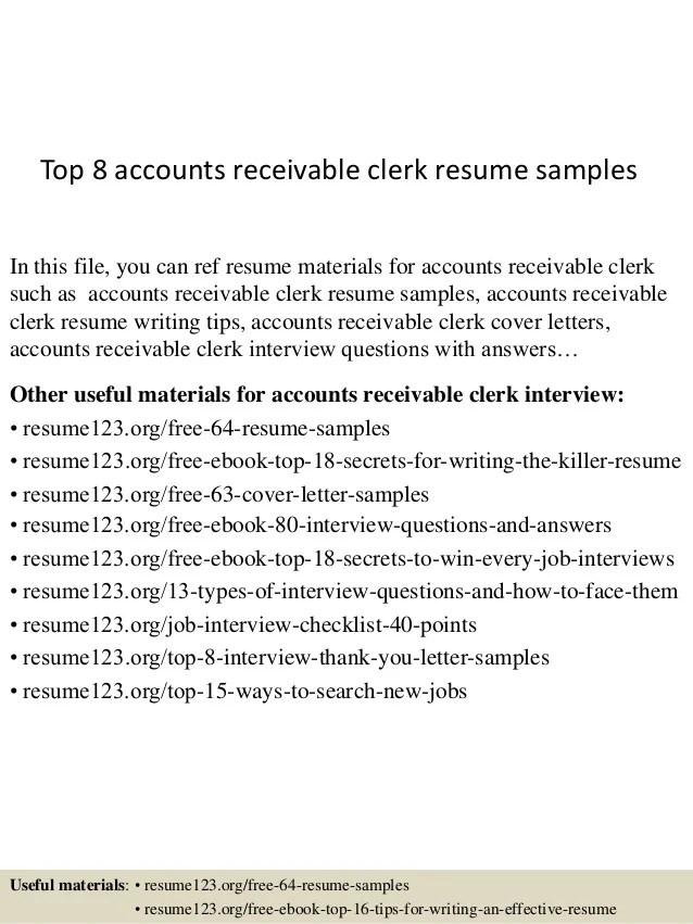 account receivable resume samples - Romeolandinez