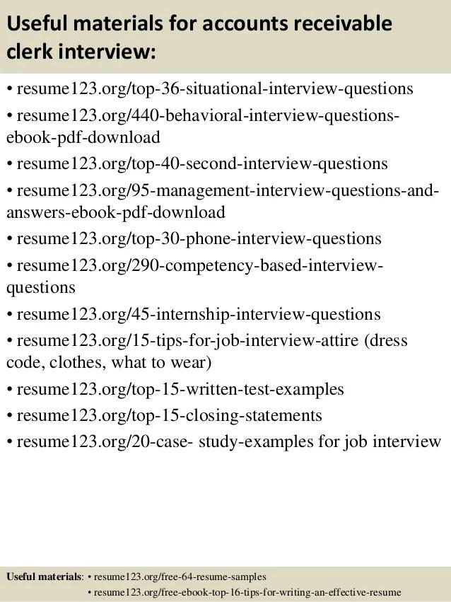 sample resume accounts receivable - Onwebioinnovate