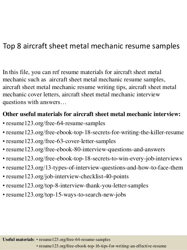 sheet metal resume - Goalgoodwinmetals