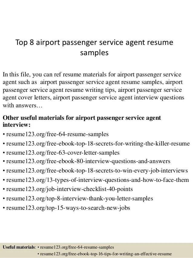 resume for passenger service agent - Onwebioinnovate - airport agent sample resume