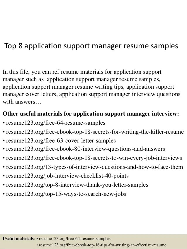 application support resume samples - Towerssconstruction