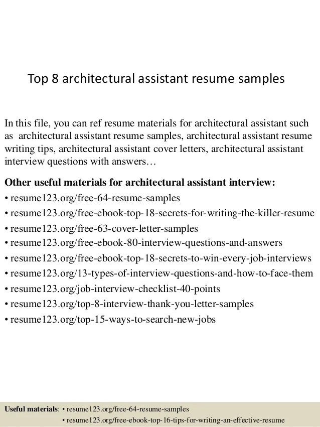 architectural resumes samples - Gottayotti