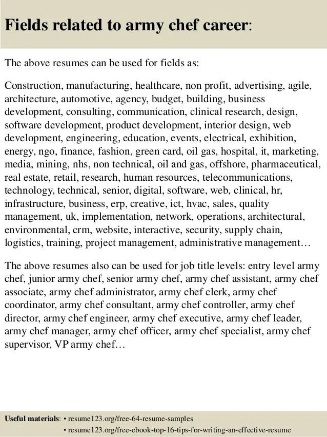 army resumes - Alannoscrapleftbehind