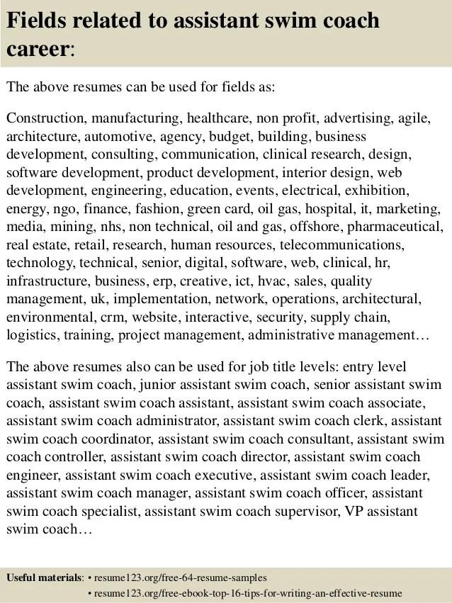 swim coach resume examples - Onwebioinnovate - wrestling coach sample resume