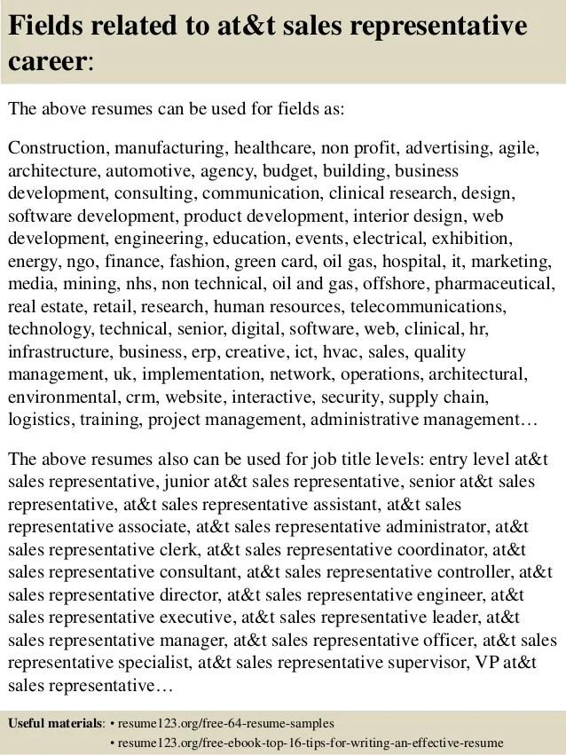 at t sales rep - Minimfagency - sales rep sample resume