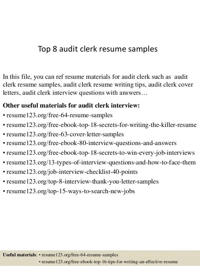 Assignment Clerk Sample Resume audit clerk cover letter