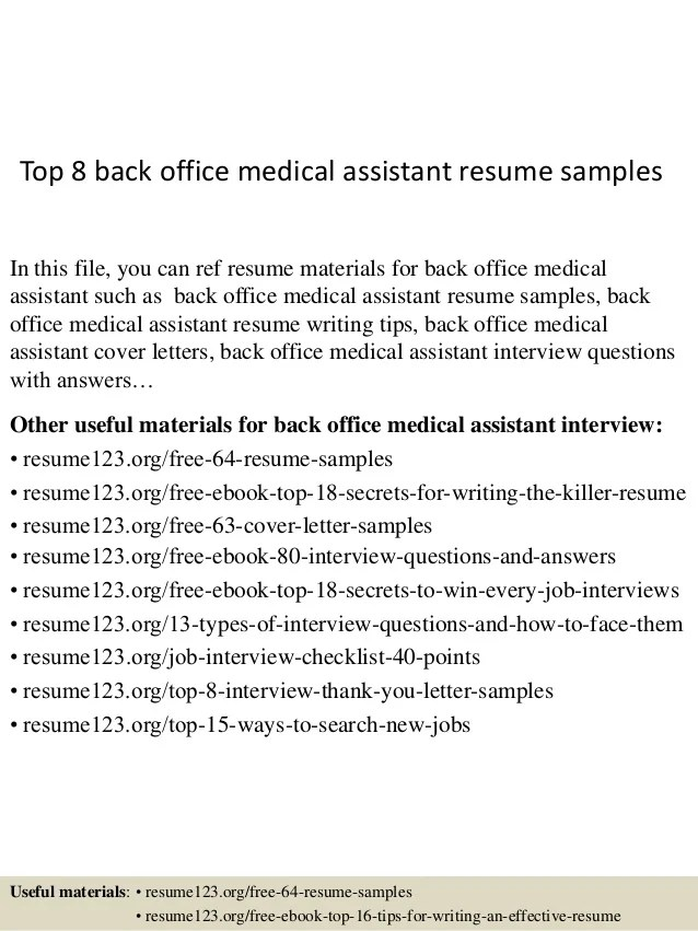 resume medical assistant