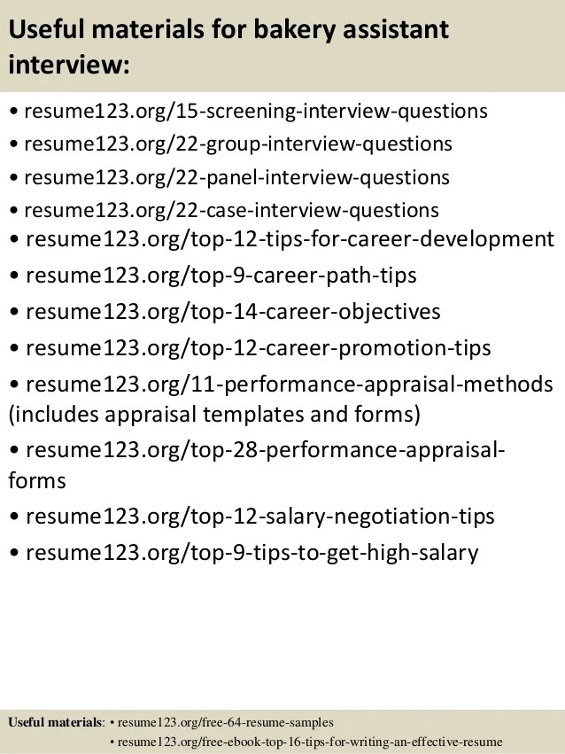 baking resume examples - Intoanysearch