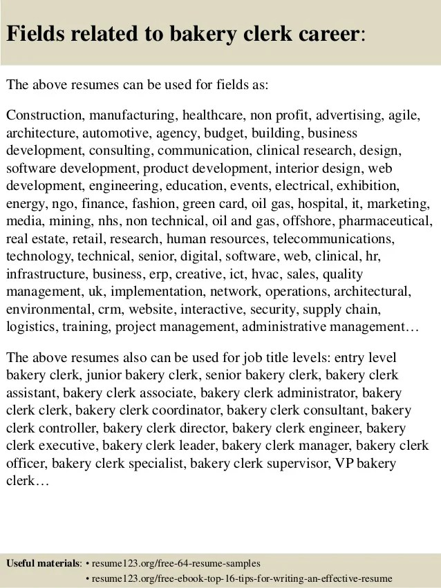 bakery cashier resumes - Onwebioinnovate - Floral Clerk Sample Resume