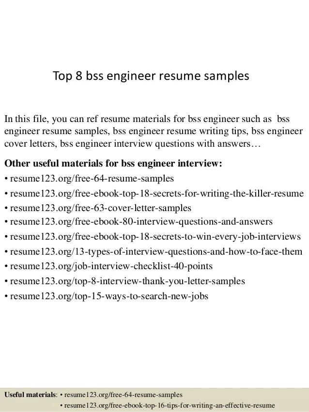engineer cv sample - Nisatasj-plus