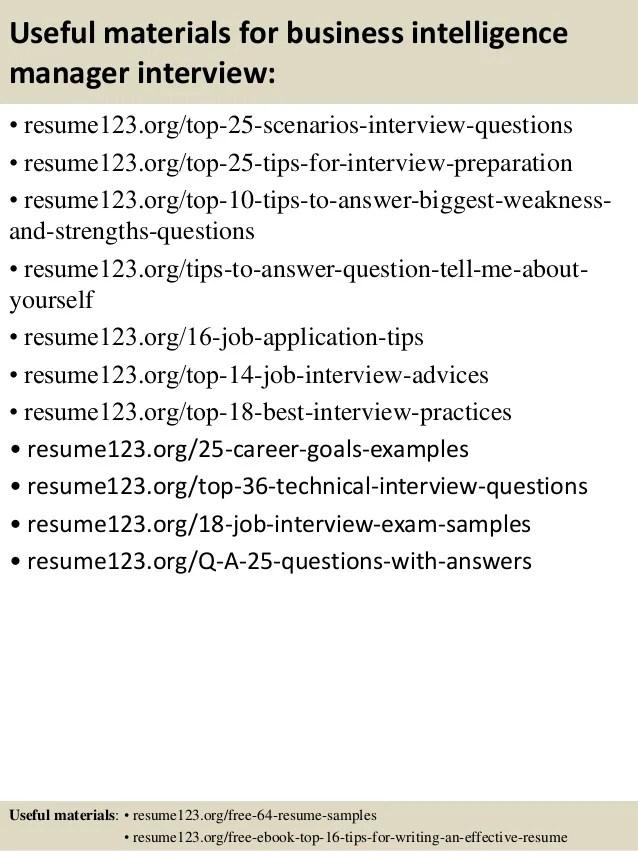 business intelligence manager resume - Minimfagency - intelligence specialist sample resume