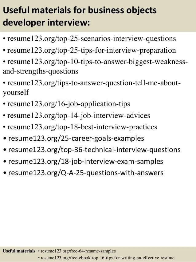 Sample Resume For Business Objects Developer Pl Sql One
