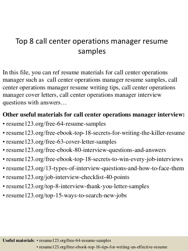 call center manager resume examples - Josemulinohouse