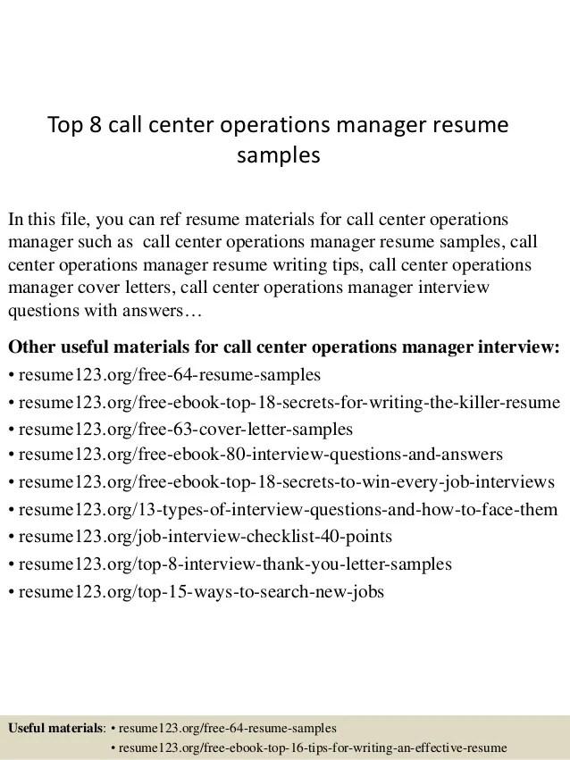 village manager sample resume